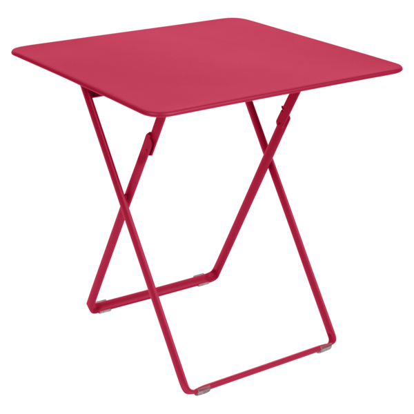 table de jardin, table metal, table pliante metal, table pliante rose