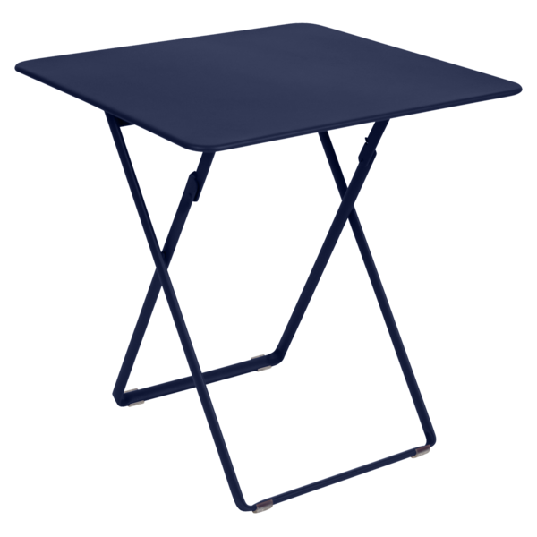 table de jardin, table metal, table pliante metal, table pliante bleu