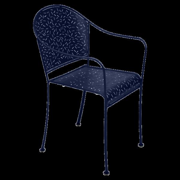 chaise de jardin, chaise metal, chaise terrasse, chaise bleu