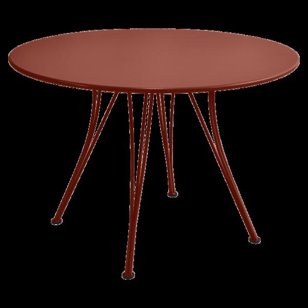 Table Ø 110 cm rendez-vous ocre rouge