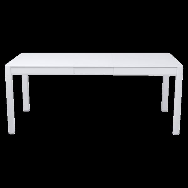 table de jardin blanche, table metal allonge, table metal a rallonge, table metal rectangulaire, table fermob allonge