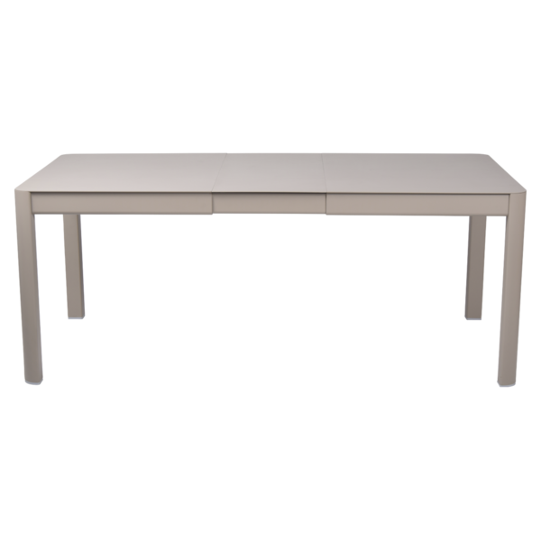 table de jardin beige, table metal allonge, table metal a rallonge, table metal rectangulaire, table fermob allonge