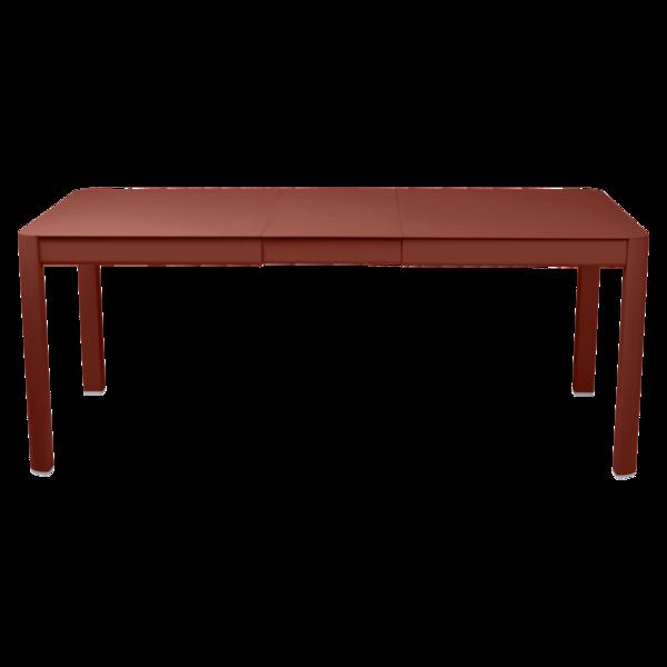 Table 1 allonge 149/191 x 100 cm ribambelle ocre rouge