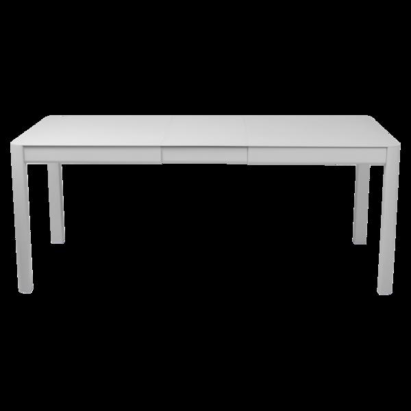 table de jardin gris, table metal allonge, table metal a rallonge, table metal rectangulaire, table fermob allonge