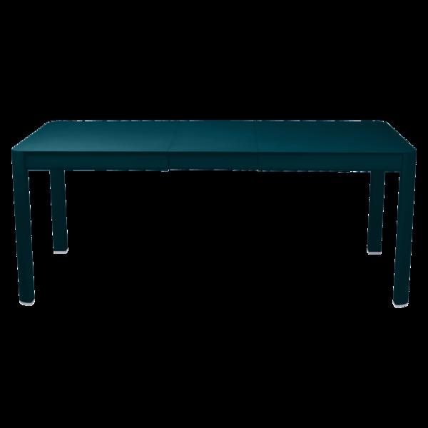 Table 1 allonge 149/191 x 100 cm ribambelle bleu acapulco