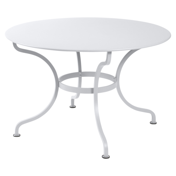table de jardin, table metal, table ronde metal, table ronde blanche