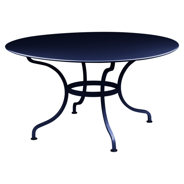 table de jardin, table metal, table ronde metal, table ronde bleu