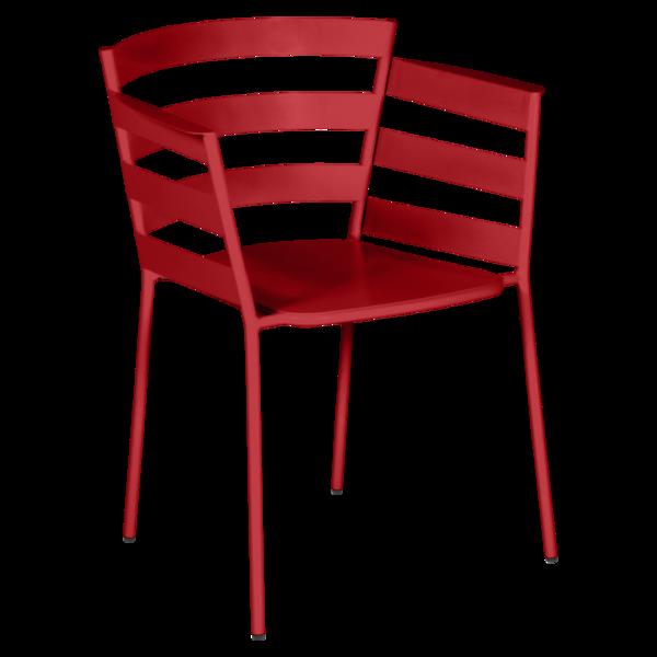 chaise metal design, chaise design, fauteuil de jardin, chaise metal, chaise fermob, fauteuil rouge