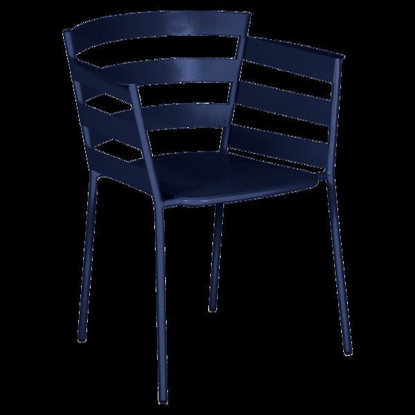 chaise metal design, chaise design, fauteuil de jardin, chaise metal, chaise fermob, fauteuil bleu fonce