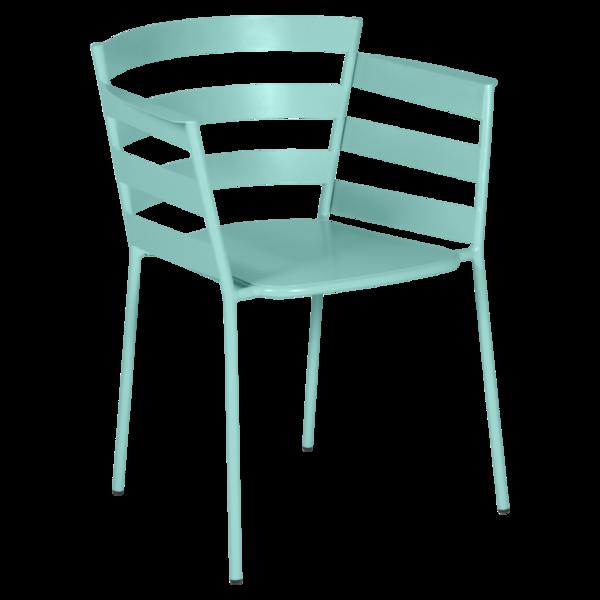 chaise metal design, chaise design, fauteuil de jardin, chaise metal, chaise fermob, fauteuil bleu