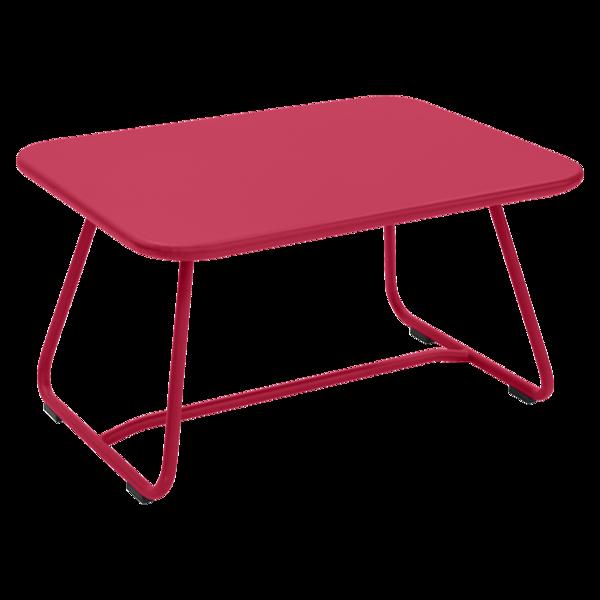 table basse metal, table basse de jardin, table basse terrasse, table basse rose
