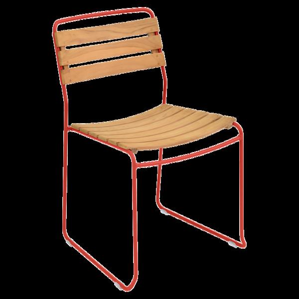 chaise surprising, chaise fermob, chaise bois et metal, chaise de jardin, chaise design, chaise bois et rose, guggenbichler
