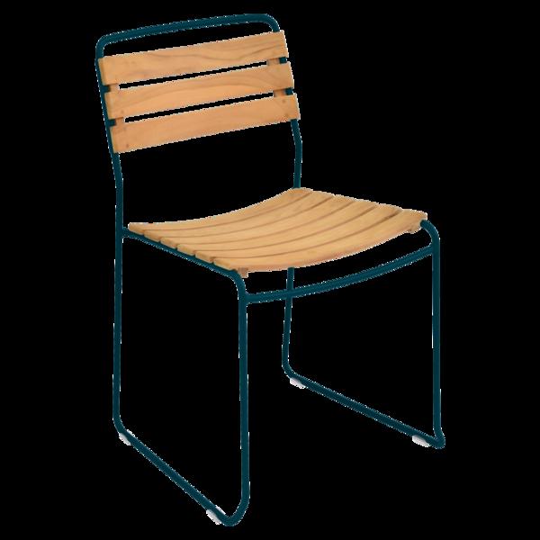 chaise surprising, chaise fermob, chaise bois et metal, chaise de jardin, chaise design, chaise bois et bleu, guggenbichler