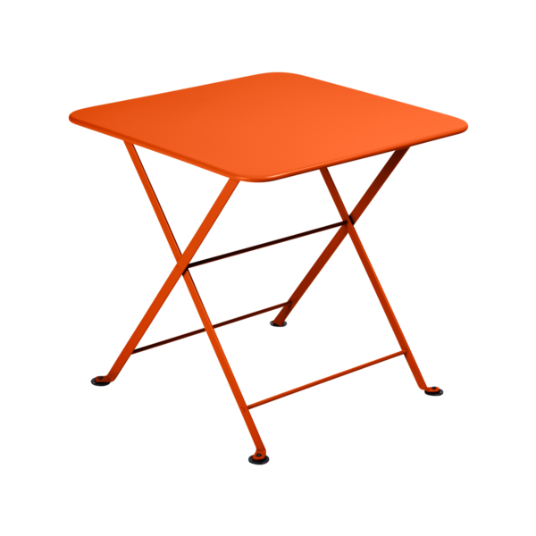 table basse metal, table enfant metal, table de jardin pour enfant, table basse orange