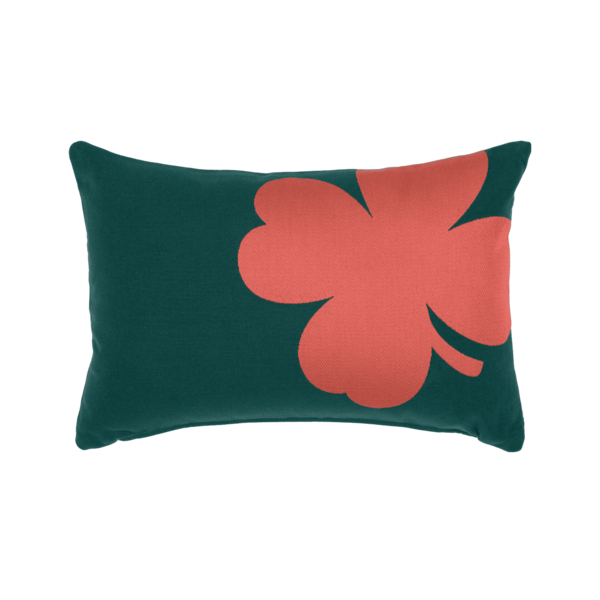 Coussin 44x30 trefle cedre