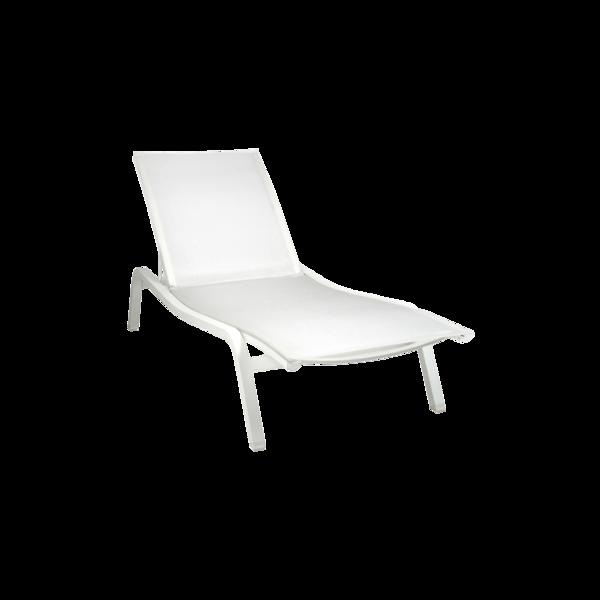 bain de soleil fermob, bain de soleil, chaise longue en toile, chaise longue fermob, chaise longue blanche