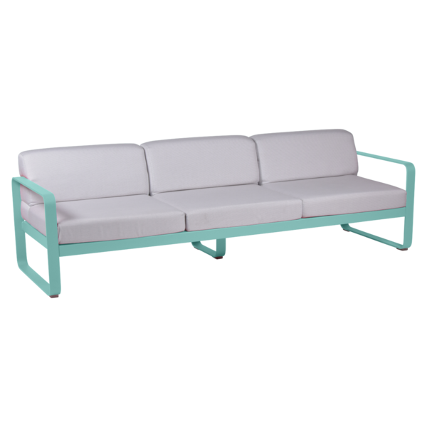 canape de jardin, canape d exterieur, canape fermob, canape metal, canape bleu