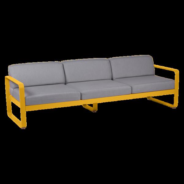 canape de jardin, canape d exterieur, canape fermob, canape metal, canape jaune