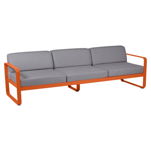 canape de jardin, canape d exterieur, canape fermob, canape metal, canape orange