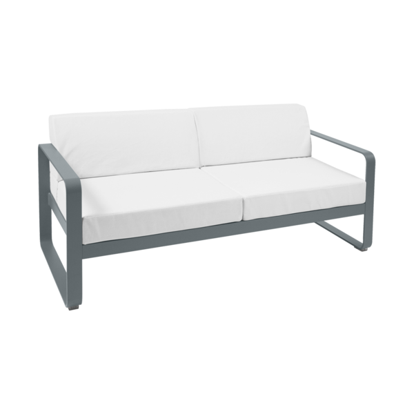 Bellevie 2-seater Sofa with Off-white cushions, garden sofa ...