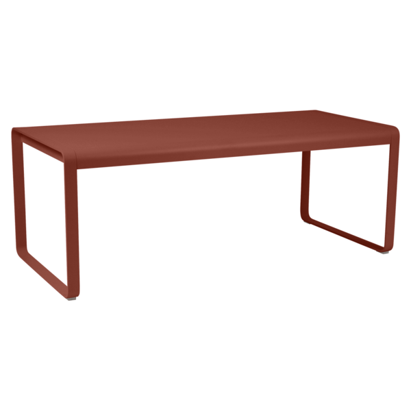Table 196 x 90 cm bellevie ocre rouge