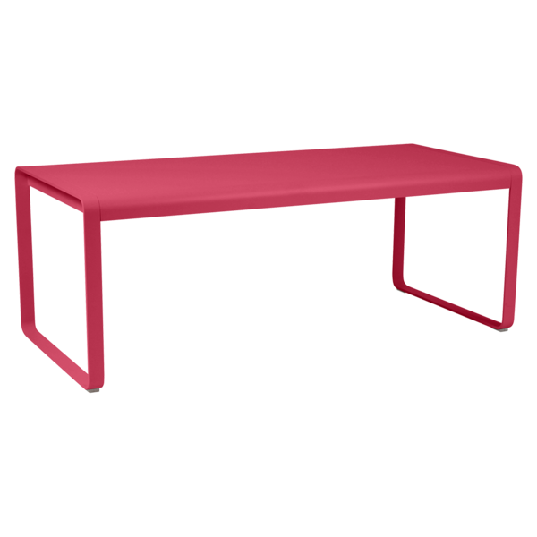 table de jardin, table metal rose, table fermob, table rectangulaire metal