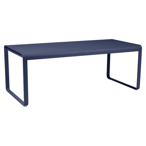 table de jardin, table metal, table bleu, table fermob