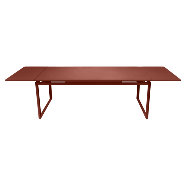 Table à allonges 200/300 x 100 cm ocre rouge