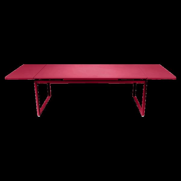 table metal, table de jardin a allonge, table allonge, grande table metal rose