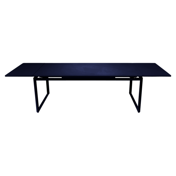 table de jardin, table metal, table rallonge, table bleu