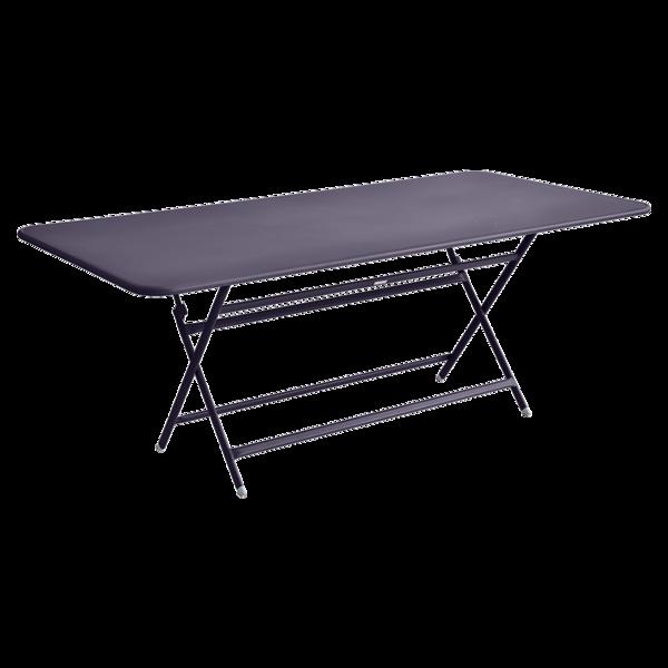 table de jardin violet