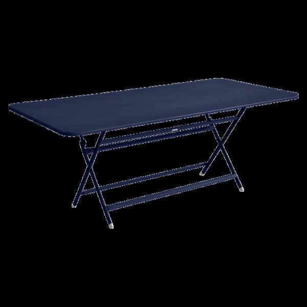 table de jardin pliante, table metal, table metal 8 personnes, table de jardin bleu, table metal bleu