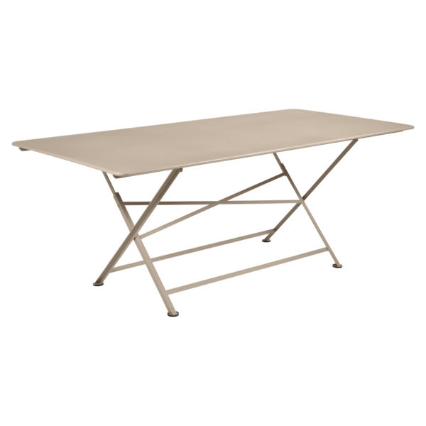 table de jardin, table metal, table de jardin pliante, table metal pliante, table fermob beige