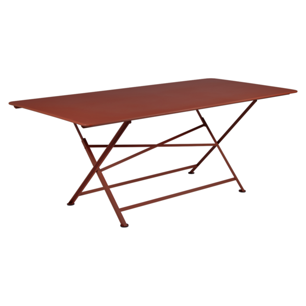 table de jardin, table metal, table de jardin pliante, table metal pliante, table fermob rouge