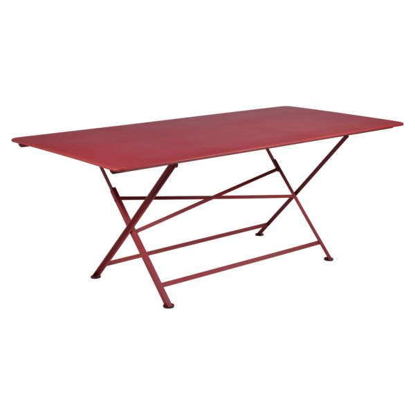 table de jardin, table metal, table de jardin pliante, table metal pliante, table fermob rouge