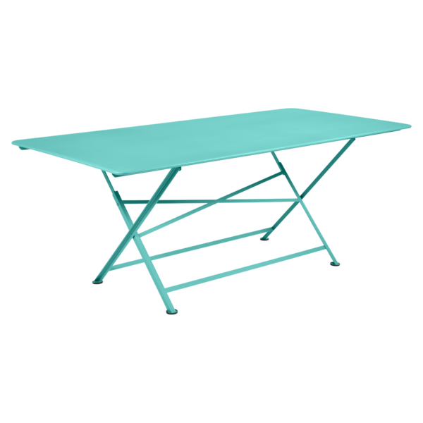 table de jardin, table metal, table de jardin pliante, table metal pliante, table fermob bleu