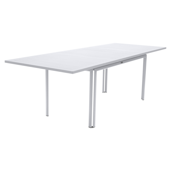 table de jardin, table metal rallonge, grande table de jardin, table metal blanche