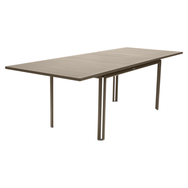 table metal, table de jardin, table rectangulaire, table beige
