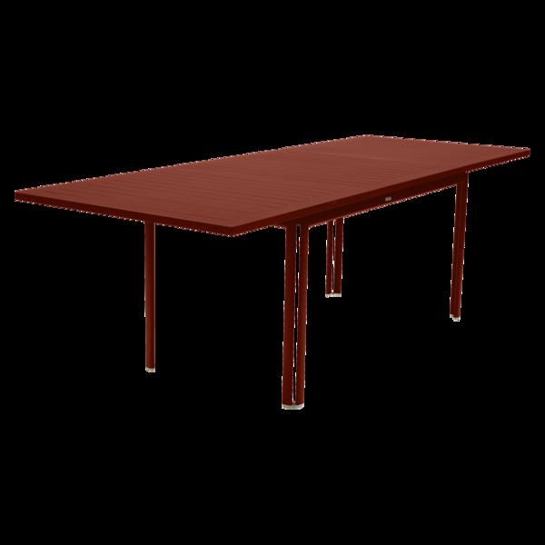 Table à allonge 160/240 x 90 cm costa ocre rouge