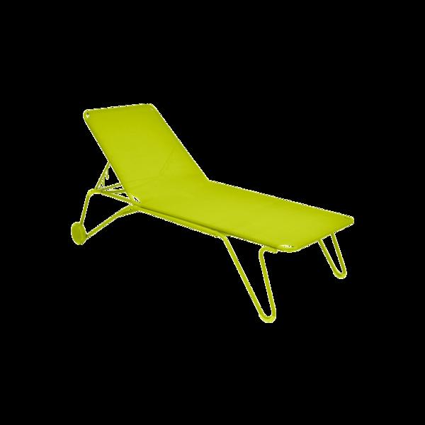 bain de soleil fermob, chaise longue fermob, bain de soleil en toile, chaise longue vert
