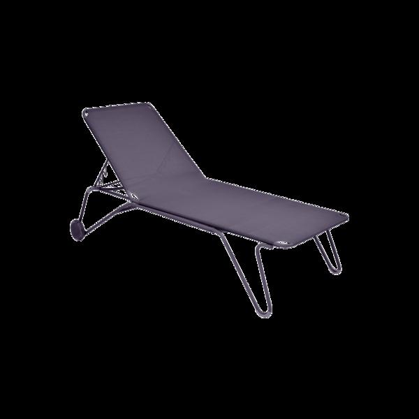 bain de soleil fermob, chaise longue fermob, bain de soleil en toile, chaise longue violet
