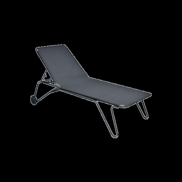 bain de soleil fermob, chaise longue fermob, bain de soleil en toile, chaise longue noir