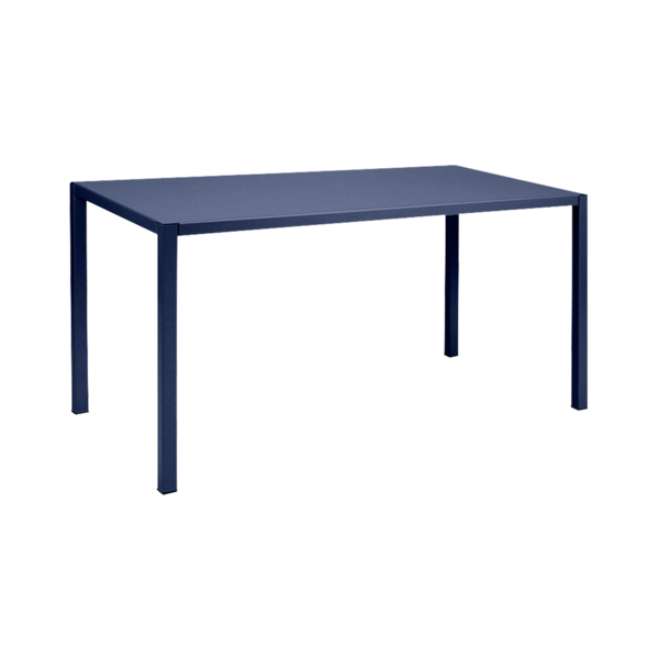 table design, table putman, table de jardin, table metal, table bleu