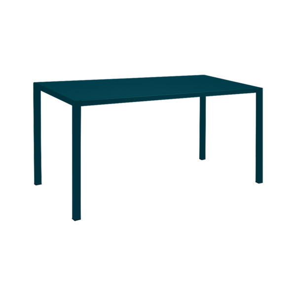 Table 140 x 70 cm inside out bleu acapulco