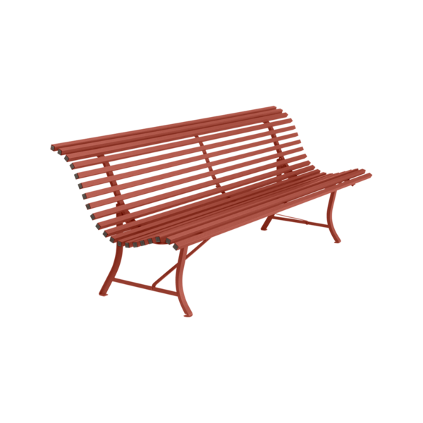 Banc 200 cm louisiane ocre rouge