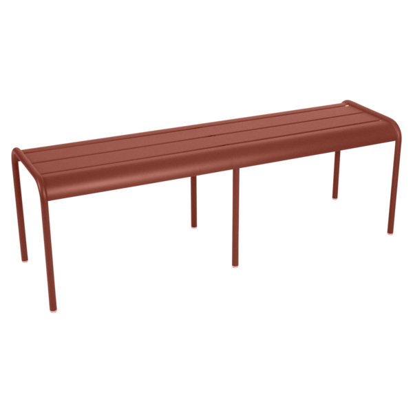 Banc 3/4 places luxembourg ocre rouge
