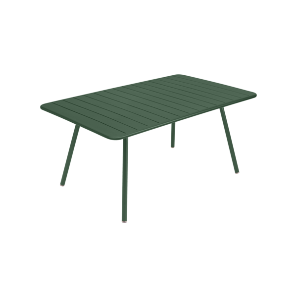 table fermob, table luxembourg, table de jardin vert, table metal vert