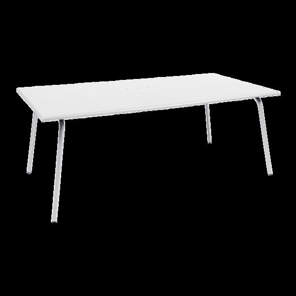 table de jardin, table metal, table rectangulaire, table 8 personnes, table banche