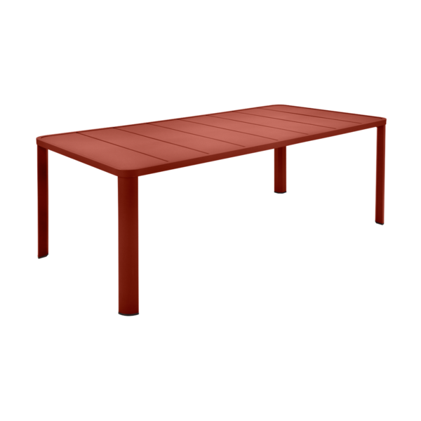 Table 205 x 100 cm oléron ocre rouge