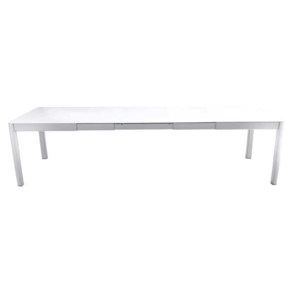 table de jardin blanche, table metal allonge, table metal a rallonge, table metal rectangulaire, table fermob allonge